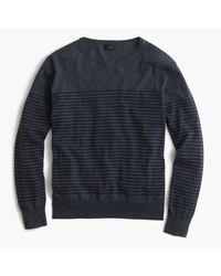 J.Crew | Blue Lightweight Cotton Crewneck Sweater In Nautical Stripe for Men | Lyst