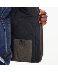 J.Crew Brown Sussex Quilted Vest In Cotton Twill for men