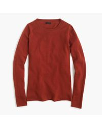 J.Crew | Red Italian Cashmere Long-sleeve T-shirt for Men | Lyst
