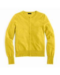 J.Crew | Yellow Italian Cashmere Cardigan Sweater | Lyst