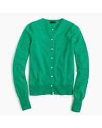J.Crew | Green Italian Cashmere Cardigan Sweater | Lyst