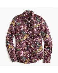 J.Crew Multicolor Drake's Printed Silk-Twill Shirt