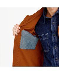 J.Crew - Brown Wallace & Barnes Canvas Chore Coat for Men - Lyst