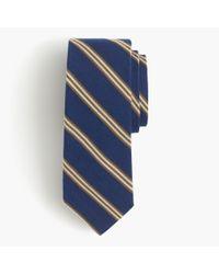 J.Crew   Blue English Wool-silk Tie In Multistripe for Men   Lyst