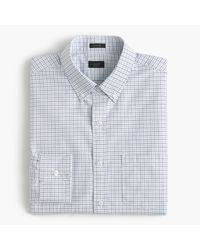 J.Crew   Blue Ludlow Shirt In Tattersall Oxford for Men   Lyst