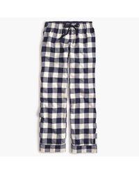J.Crew | Blue Petite Buffalo Check Pajama Pant | Lyst