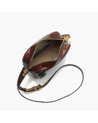 J.Crew Multicolor Signet Bag In Croc-embossed Italian Leather