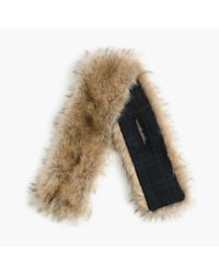 J.Crew Multicolor Faux-fur Stole With Black Watch Lining