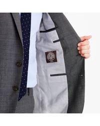 J.Crew Gray Martin Greenfield Ludlow Suit Jacket In American Glen Plaid Wool for men