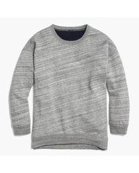 J.Crew | Gray Fleece-lined Sweatshirt | Lyst