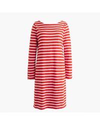 J.Crew   Red Striped T-shirt Dress   Lyst