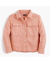 J.Crew - Multicolor Garment-dyed Safari Shirt-jacket - Lyst