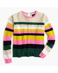J.Crew - Yellow Carine Pop Stripe Italian Cashmere Sweater for Men - Lyst