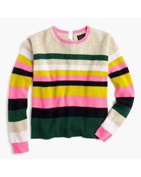 J.Crew - Yellow Carine Pop Stripe Italian Cashmere Sweater for Men - Lyst