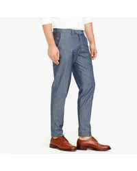 J.Crew - Blue Bowery Slim Pant In Chambray for Men - Lyst