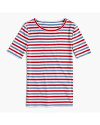 J.Crew | White New Perfect-fit T-shirt In Stripe | Lyst