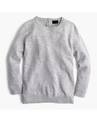 J.Crew   Gray Italian Cashmere Button-back Sweater   Lyst