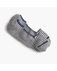 J.Crew | Blue Anonymous Ism No-show Socks In Stripe for Men | Lyst