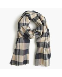 J.Crew | Multicolor Lightweight Cotton Scarf In Plaid | Lyst
