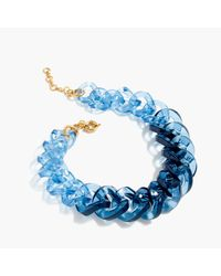 J.Crew | Blue Squared Lucite Link Necklace | Lyst