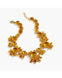 J.Crew - Metallic Sunshine Crystal Necklace - Lyst