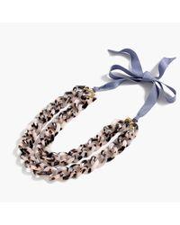 J.Crew | Multicolor Double Lucite Chain Necklace | Lyst