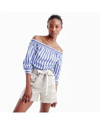 J.Crew | Natural Collection Tie-front Satin Short | Lyst