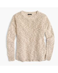 J.Crew | Natural Oversized Marled Sweater In Cotton-linen | Lyst