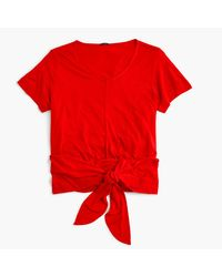 J.Crew | Red Wrap T-shirt | Lyst