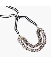 J.Crew | Multicolor Double Strand Link Necklace | Lyst