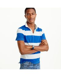 J.Crew   Blue Short-sleeve Rugby Polo Shirt for Men   Lyst