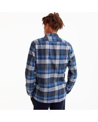 J.Crew - Blue Wallace & Barnes Heavyweight Flannel Shirt In Navy Plaid for Men - Lyst
