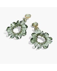 J.Crew - Green Wreath Earrings - Lyst