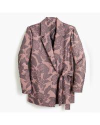 J.Crew - Pink Tie-close Jacquard Blazer - Lyst