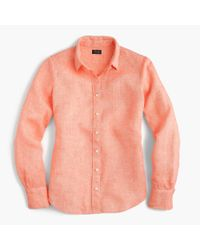 J.Crew Multicolor Perfect Shirt In Cross-dyed Irish Linen