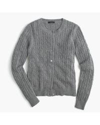 J.Crew Gray Cambridge Cable Cardigan Sweater
