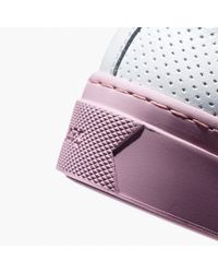 GREATS Pink Royale Reverse Perforated Sneakers In Mist Gray Leather