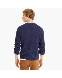 J.Crew Blue Cotton Thermal Heavyweight Sweater for men