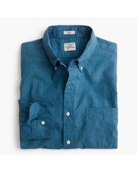 J.Crew - Blue Secret Wash Heather Poplin Shirt for Men - Lyst