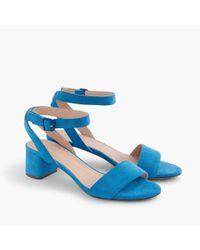 J.Crew Blue Lottie Suede Sandals