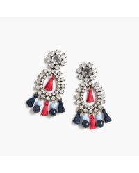 J.Crew - Multicolor Crystal And Tassel Earrings - Lyst