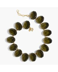 J.Crew | Green Oversized Gem Necklace | Lyst