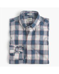 J.Crew Blue Tall Brushed Twill Shirt In Batavia Gingham for men