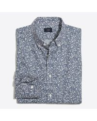 J.Crew Blue Mercantile Printed Washed Shirt for men