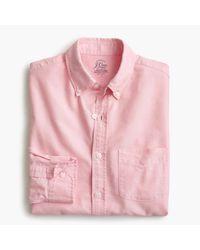 J.Crew - Pink Slim Lightweight Oxford Shirt In Solid for Men - Lyst