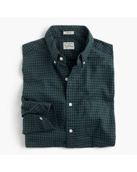 J.Crew | Green Secret Wash Shirt In Gingham for Men | Lyst