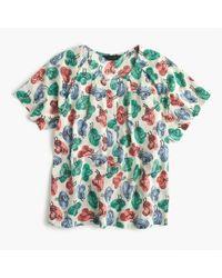 J.Crew Multicolor Short-sleeve Top In Hat Print