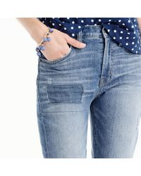 J.Crew Blue Vintage Crop Jean With Patchwork