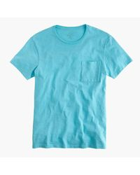 J.Crew Blue Garment-dyed T-shirt for men