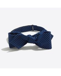 J.Crew - Blue Silk Dot Bow Tie for Men - Lyst
